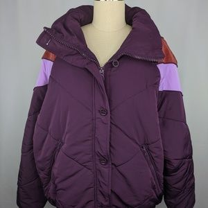 Free People Womens Jacket sz L Heidi Ski Puffer